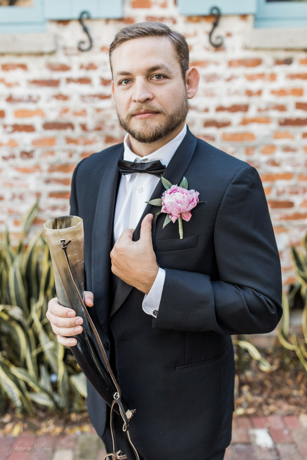 dapper groom style at his wedding at the Casa Feliz historic home in winter park