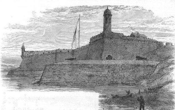 Historic Castillo de san marcos drawing