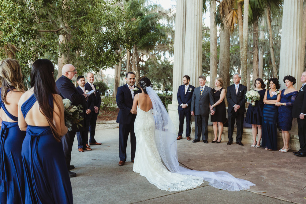 Alexandra + Anthony's Kraft Azalea garden wedding beneath the cypress trees and snowy egrets, with an intimate gathering of 30 guests.