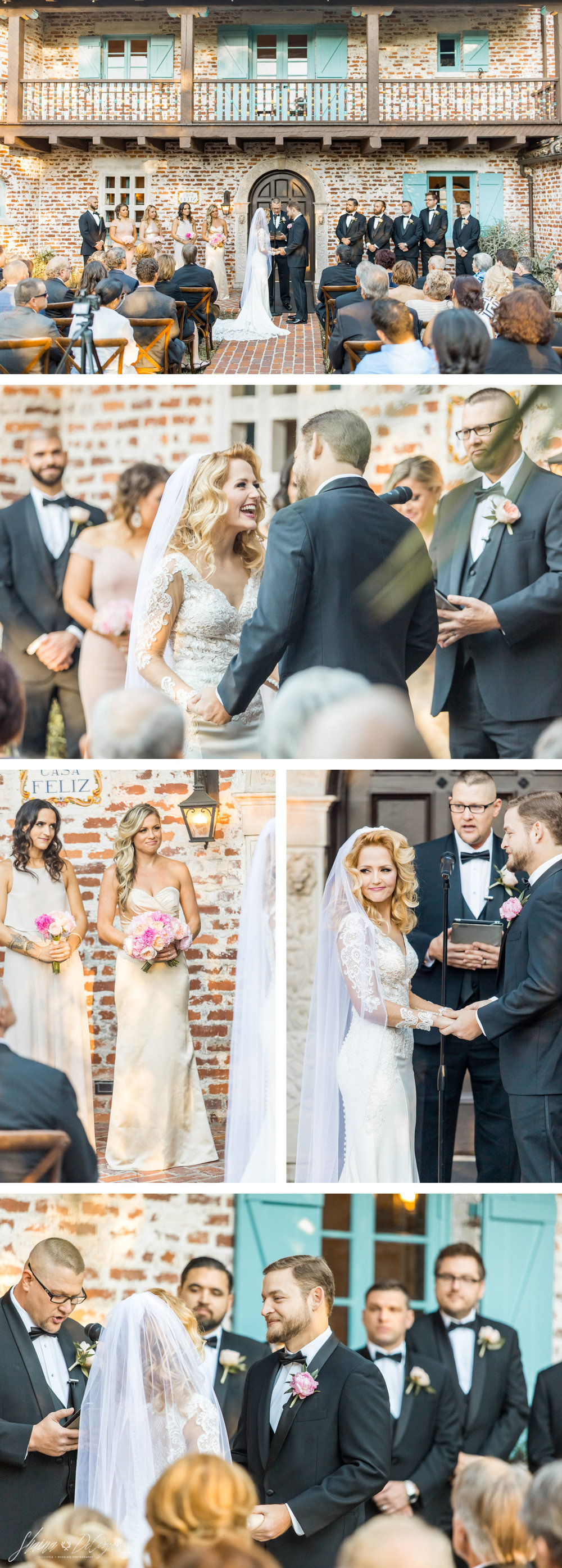 Retro Hollywood Glam Casa Feliz Wedding ceremony
