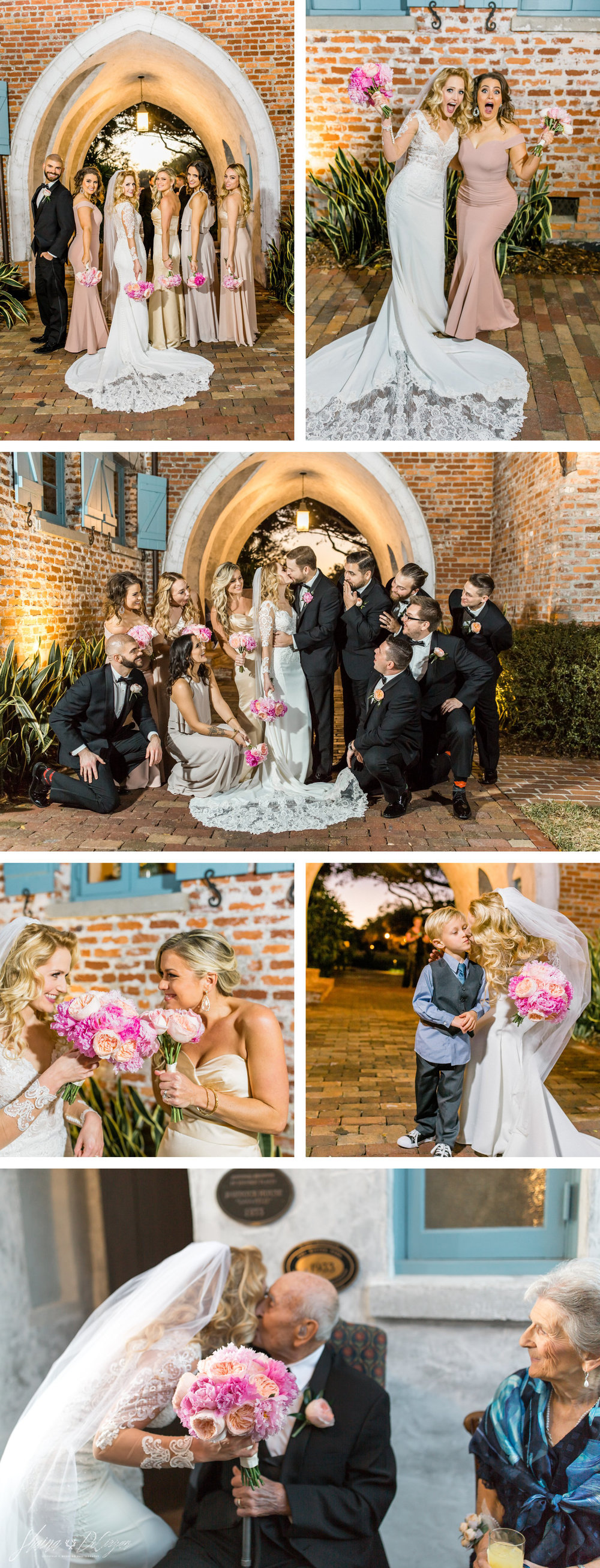 Jamie Claire + Ben's French Rustic Casa Feliz Wedding | February 10th, 2017  | Wedding Planner: Lindsay Feist of Adore Amore | Wedding Venue: Casa Feliz Historic Home, Winter Park, Florida | Catering: Arthur's Catering | Floral design: Florida Flowers & Orchids | DJ: The Fun Factory | Cake: Eternally Sweet | Wedding Gown: Essense of Australia | Bridal Boutique: Casa Di Bella | Photography: Shaina DeCiryan Photography #winterparkwedding #casafelizwedding