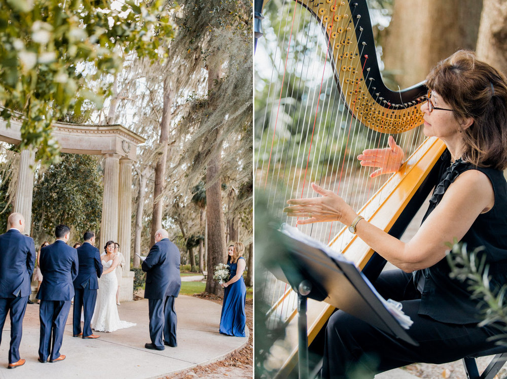Romantic Secret Garden Navy + Pink Wedding with Harpist- Kraft Azalea Gardens - The Alzates 34.jpg