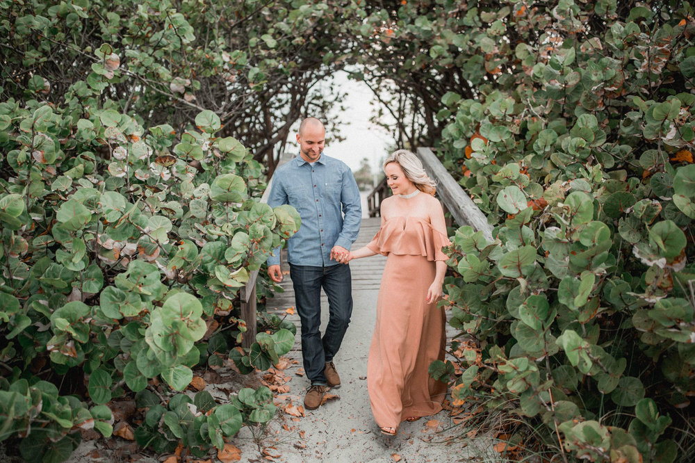 Tommy + Courtney's Cocoa Beach engagement