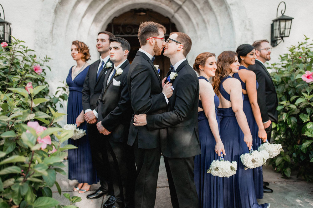 Rollins Chapel + Orlando Science Center Gay LGBT Dinosaur Themed Wedding Adam + Craig 31.jpg