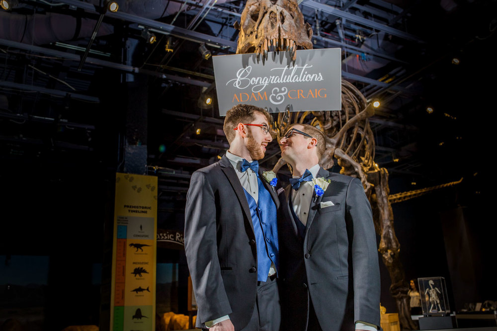 Rollins Chapel + Orlando Science Center Gay LGBT Dinosaur Themed Wedding Adam + Craig 46.jpg