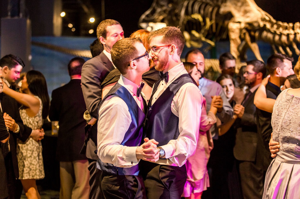 Rollins Chapel + Orlando Science Center Gay LGBT Dinosaur Themed Wedding Adam + Craig 62.jpg