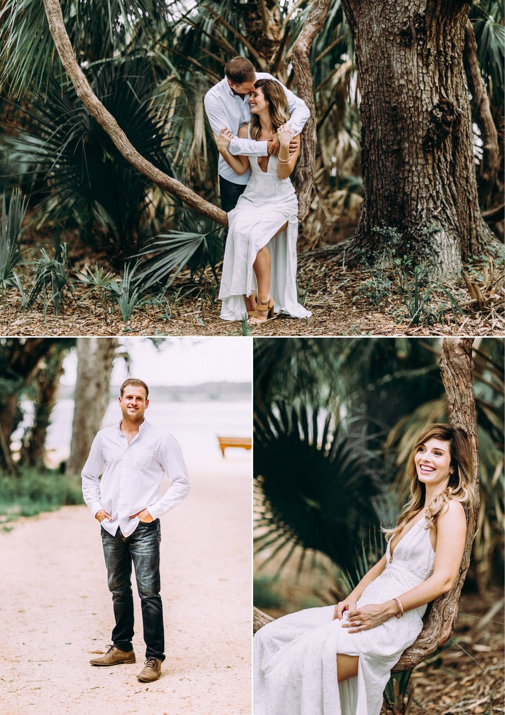 Bohemian Chic Summer Engagement Beach Garden Washington Oaks Florida 7.jpg