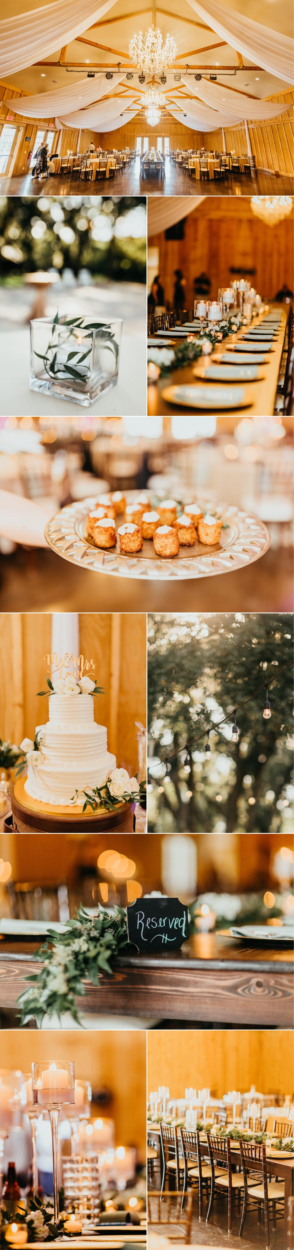 Bowing Oaks chic greenery farmhouse wedding reception decor