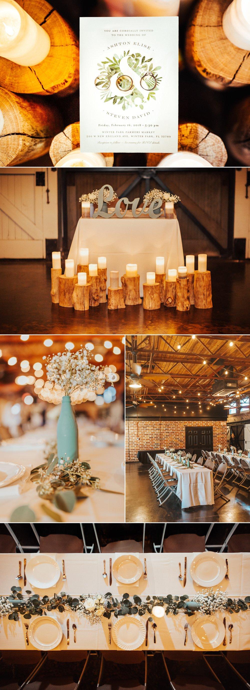 Rustic Chic Elegant Wedding Reception by Over the Moon Orlando
