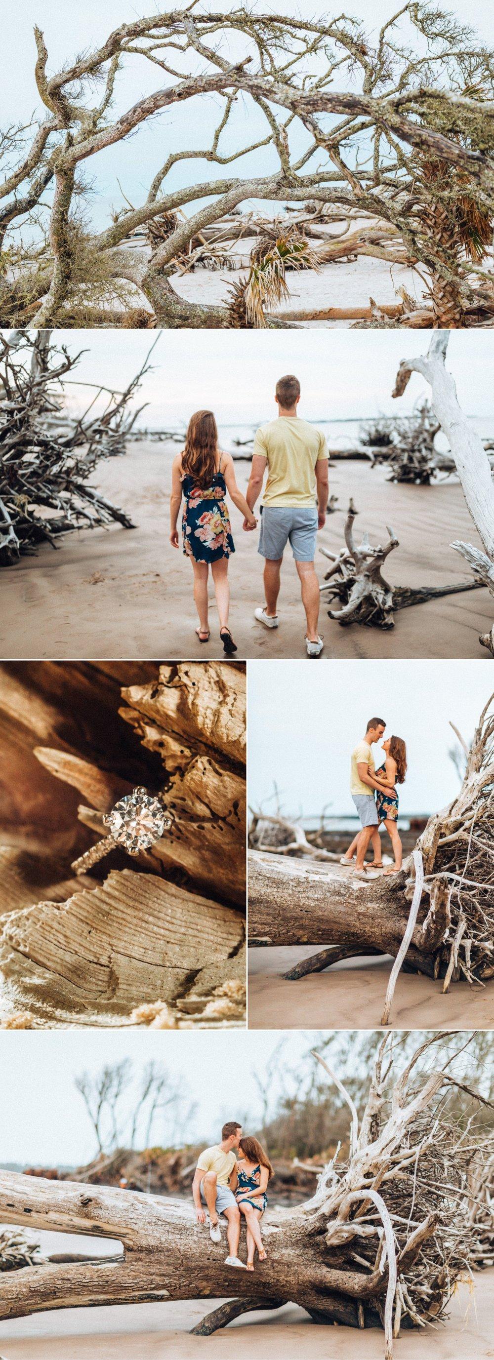 Big Talbot Island engagement photos by Shaina DeCiryan