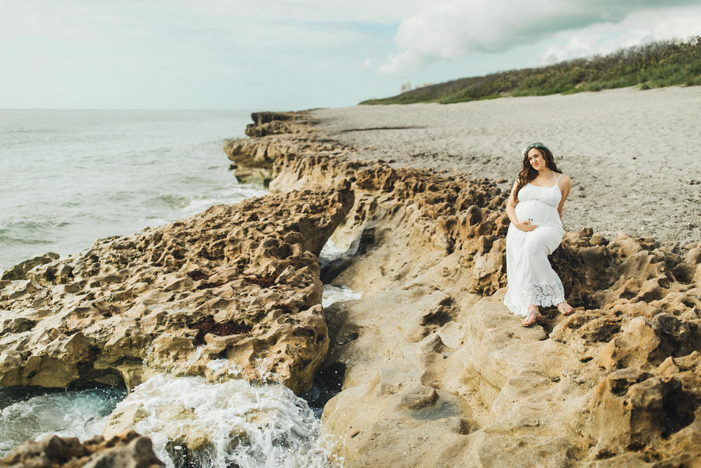 White Maternity Dress- Erica + Aaron's Blowing Rock Preserve- Florida Maternity Photos-51.jpg