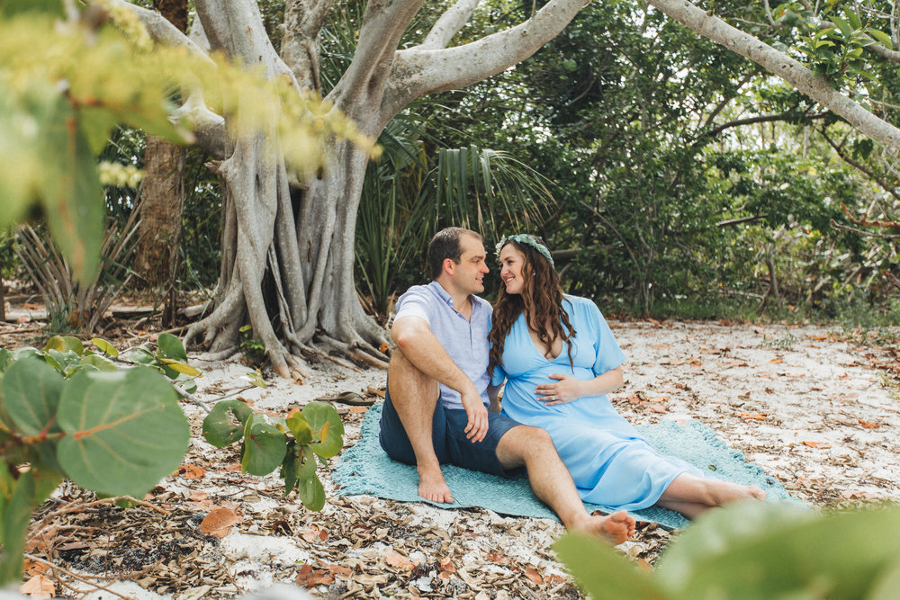 Blue Maternity Dress- Erica + Aaron's Blowing Rock Preserve- Florida Maternity Photos-2.jpg