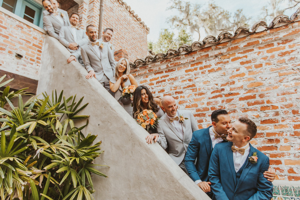 6. Groom Party & Family Group Photos- Navy & Copper Casa Feliz Wedding of Gabe & Chad -34.jpg