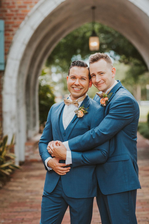 4. Groom Couples Portraits- Navy & Copper Casa Feliz Wedding of Gabe & Chad -36.jpg