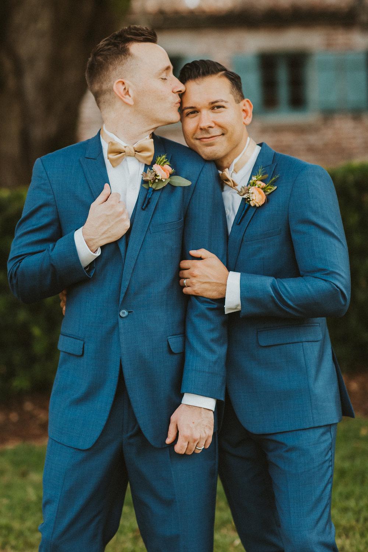 4. Groom Couples Portraits- Navy & Copper Casa Feliz Wedding of Gabe & Chad -77.jpg