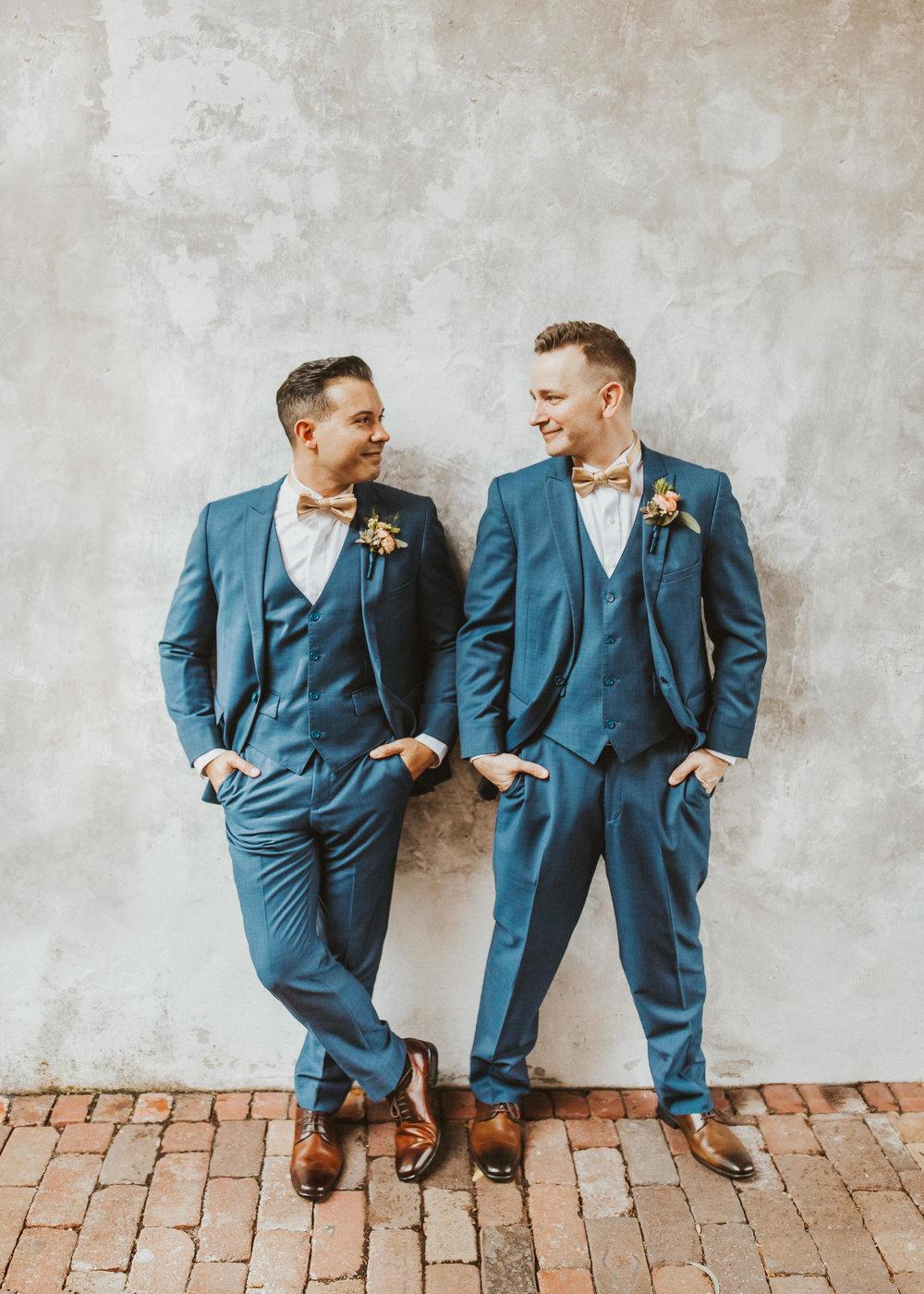 4. Groom Couples Portraits- Navy & Copper Casa Feliz Wedding of Gabe & Chad -103.jpg