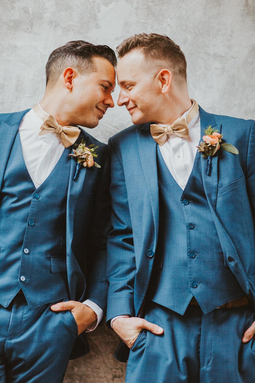 4. Groom Couples Portraits- Navy & Copper Casa Feliz Wedding of Gabe & Chad -112.jpg