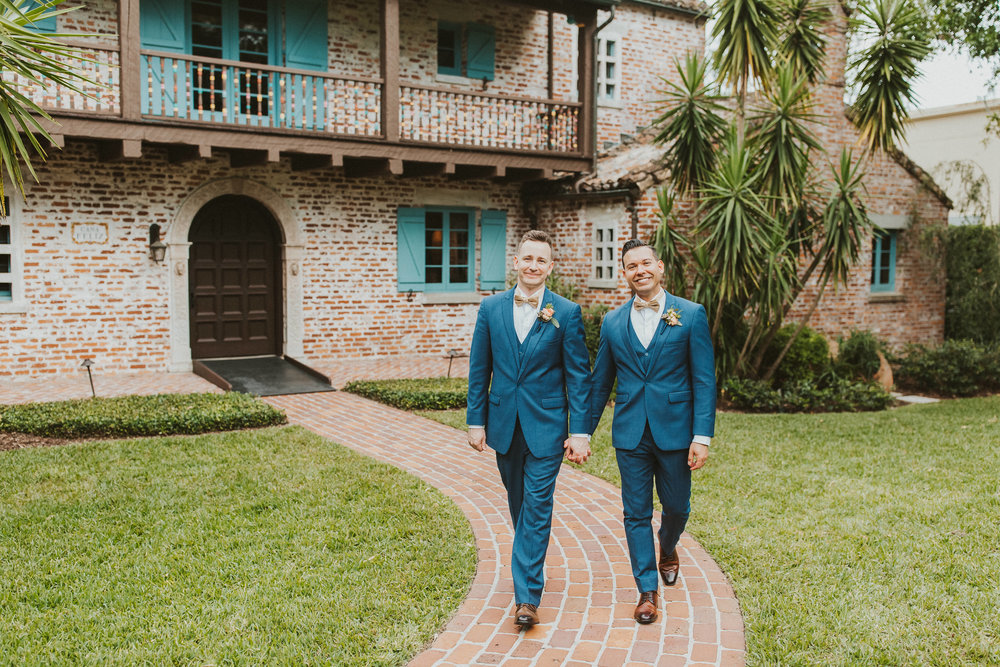 4. Groom Couples Portraits- Navy & Copper Casa Feliz Wedding of Gabe & Chad -166.jpg