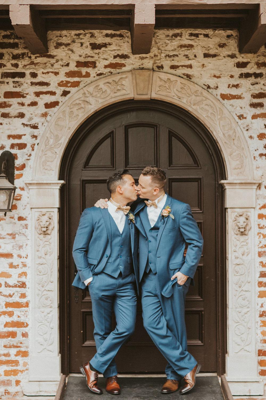 4. Groom Couples Portraits- Navy & Copper Casa Feliz Wedding of Gabe & Chad -123.jpg