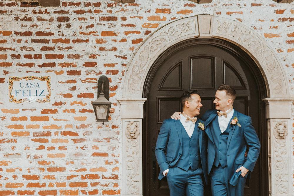 4. Groom Couples Portraits- Navy & Copper Casa Feliz Wedding of Gabe & Chad -124.jpg