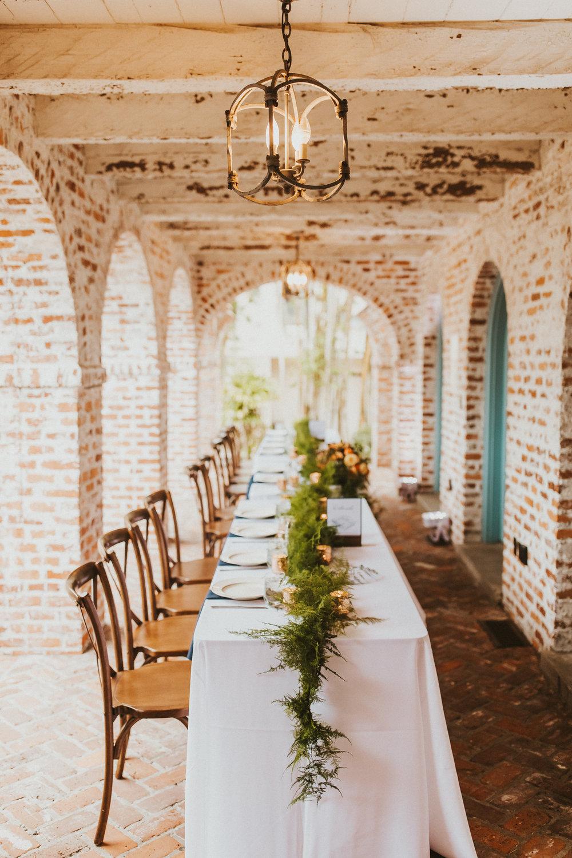 8. Reception Dinner- Navy & Copper Casa Feliz Wedding of Gabe & Chad -4.jpg