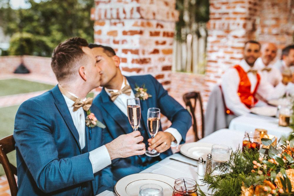 8. Reception Dinner- Navy & Copper Casa Feliz Wedding of Gabe & Chad -70.jpg