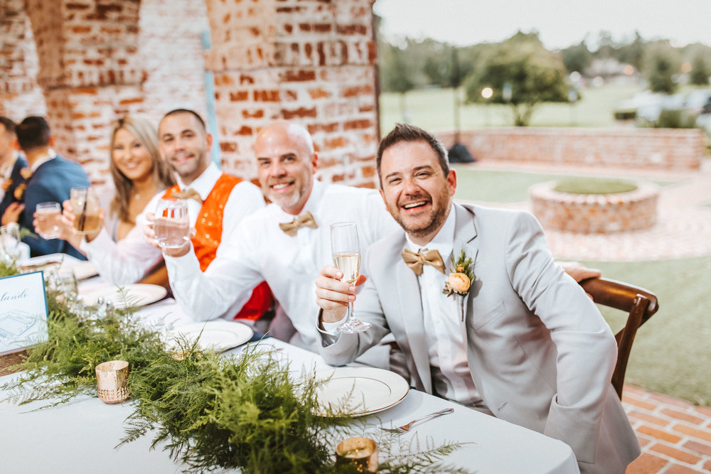 8. Reception Dinner- Navy & Copper Casa Feliz Wedding of Gabe & Chad -77.jpg