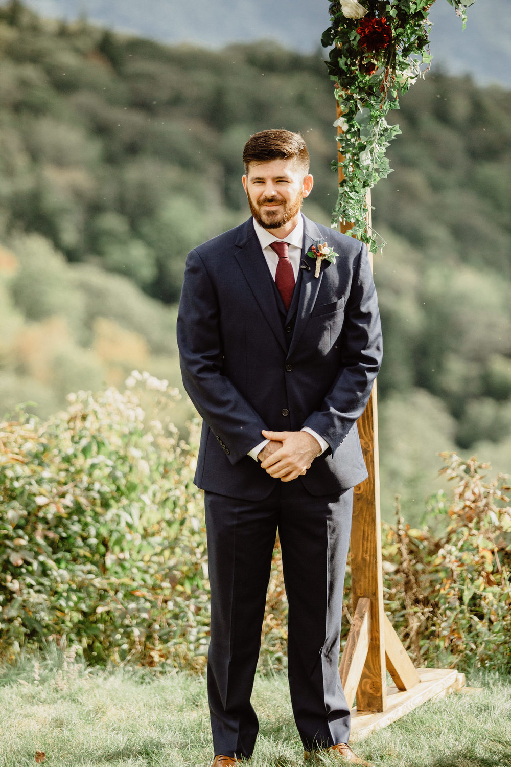 3. Elopement Ceremony- Cole + Rachel's Great Smoky Mountain National Park Elopement-39.jpg