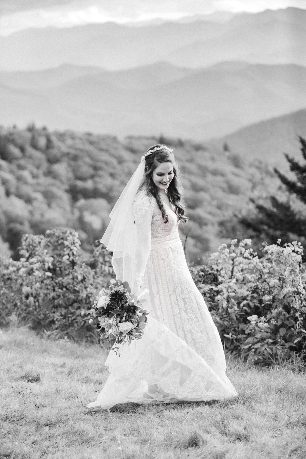 5. Mountain Bride & Groom Portraits- Cole + Rachel's Great Smoky Mountain National Park Elopement-11.jpg
