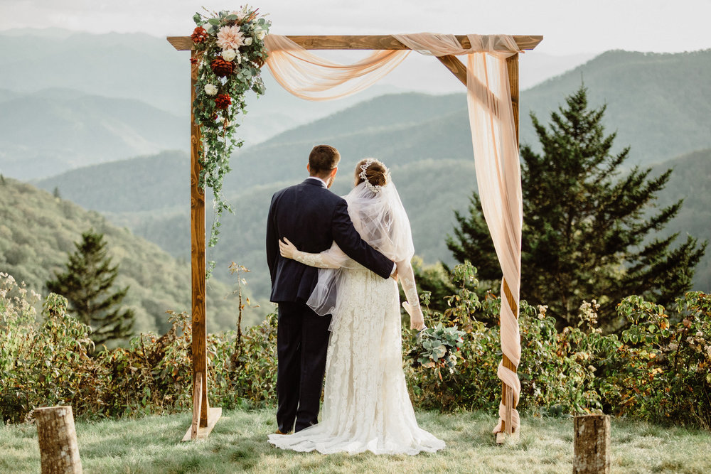 5. Mountain Bride & Groom Portraits- Cole + Rachel's Great Smoky Mountain National Park Elopement-26.jpg