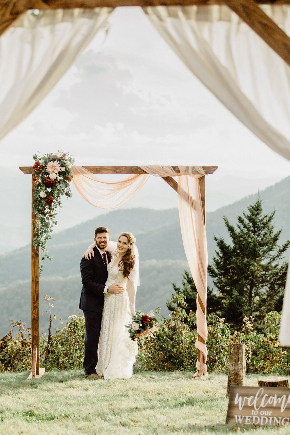 5. Mountain Bride & Groom Portraits- Cole + Rachel's Great Smoky Mountain National Park Elopement-40.jpg