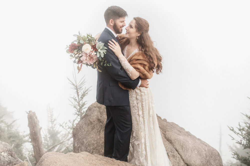 5. Mountain Bride & Groom Portraits- Cole + Rachel's Great Smoky Mountain National Park Elopement-253.jpg