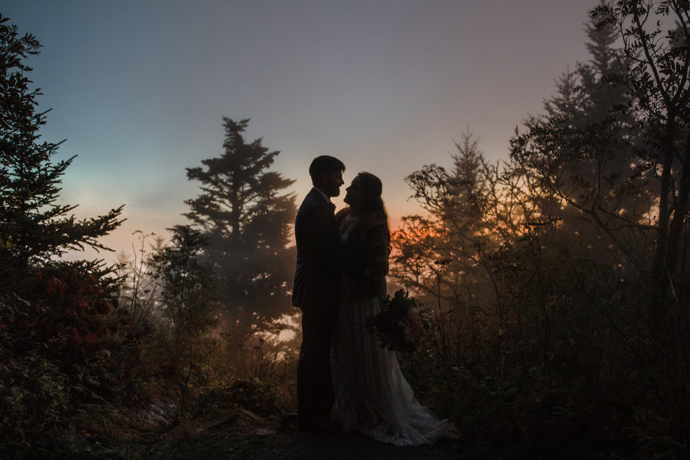 5. Mountain Bride & Groom Portraits- Cole + Rachel's Great Smoky Mountain National Park Elopement-267.jpg