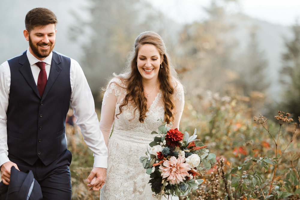 5. Mountain Bride & Groom Portraits- Cole + Rachel's Great Smoky Mountain National Park Elopement-153.jpg