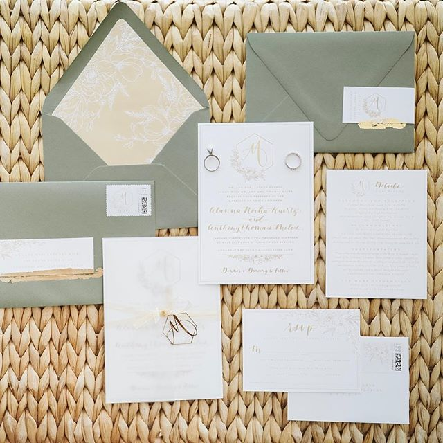 Loving these Sage green invitations for Alanna + Anthony's @longboatkeyclub wedding yesterday on 1.19.19! . . . . #longboatkeywedding #weddinginvitations #papergoods #sagegreenwedding #weddinginspiration #theknot