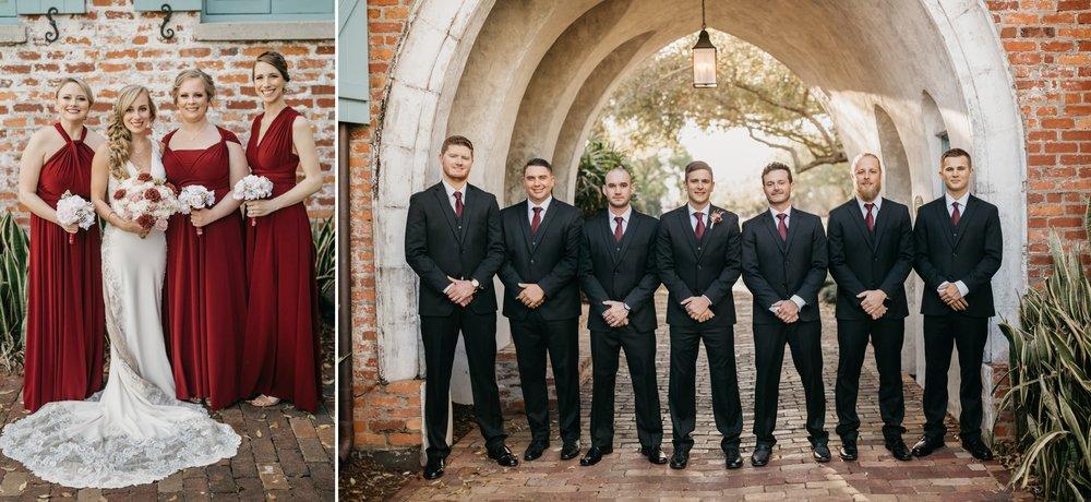 Wine Bridesmaid Dresses and Groomsmen Ties Wedding Style- ShainaDeCiryan_Photography.jpg