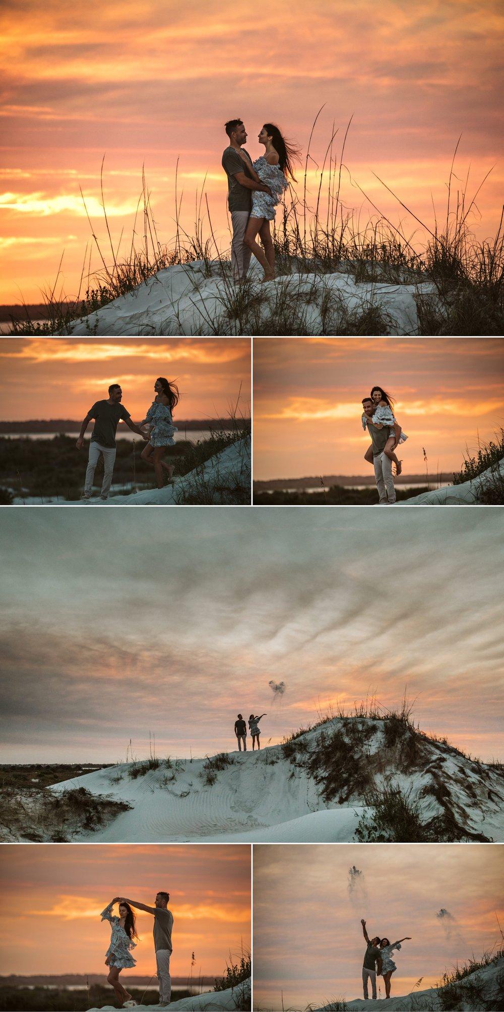 Adventure Brushfire sunset beach engagement- Gabriella + Chad- Shaina DeCiryan photography15.jpg