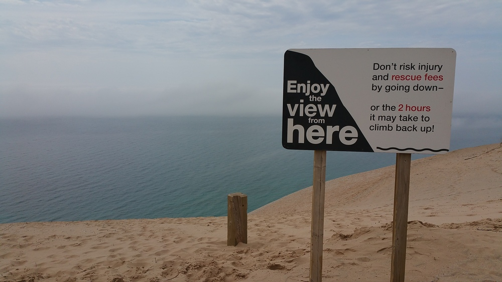 Top of Sleeping Bear Dunes