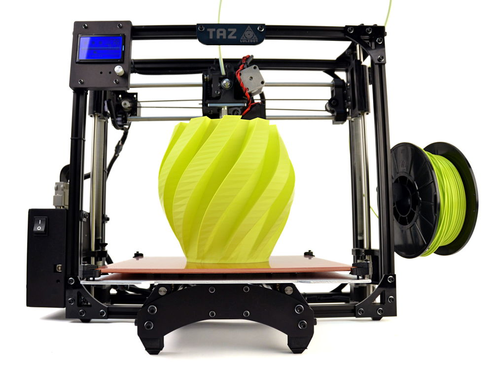 "We have been using the Taz 5 ""open source"" 3D printer for most of our custom lab equipment."
