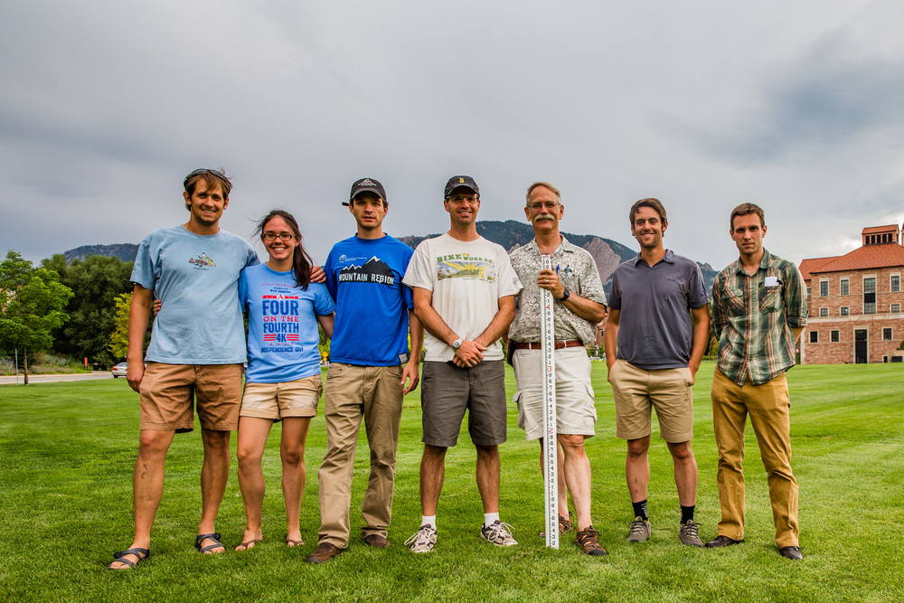 Some of the RMP team following a recent surveying workshop in Boulder.