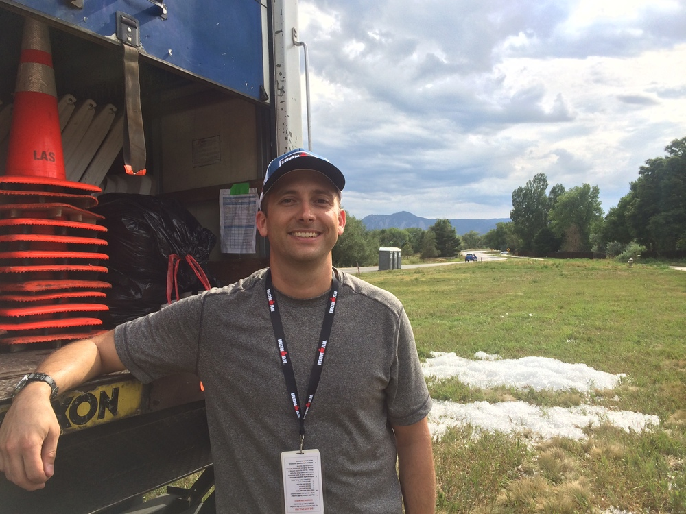 RMP fundraising chair Clint Carney volunteered as aid station captain at the 2015 Boulder IRONMAN. Thanks Clint for your efforts coordinating such a successful day!