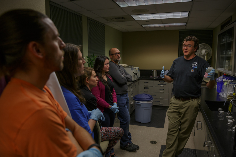 RMP Members learn about Boulder's process for measuring coliforms.
