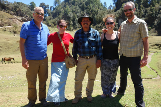 Team photo with Diego on our final day in Sumal Grande.