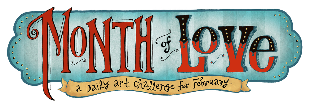 Month of Love, header by Jeanine Henderson