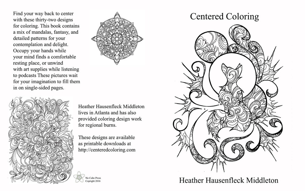 You can buy the coloring book, of course, and have it mailed to you. Or you can scratch that instant gratification itch at centeredcoloring.com