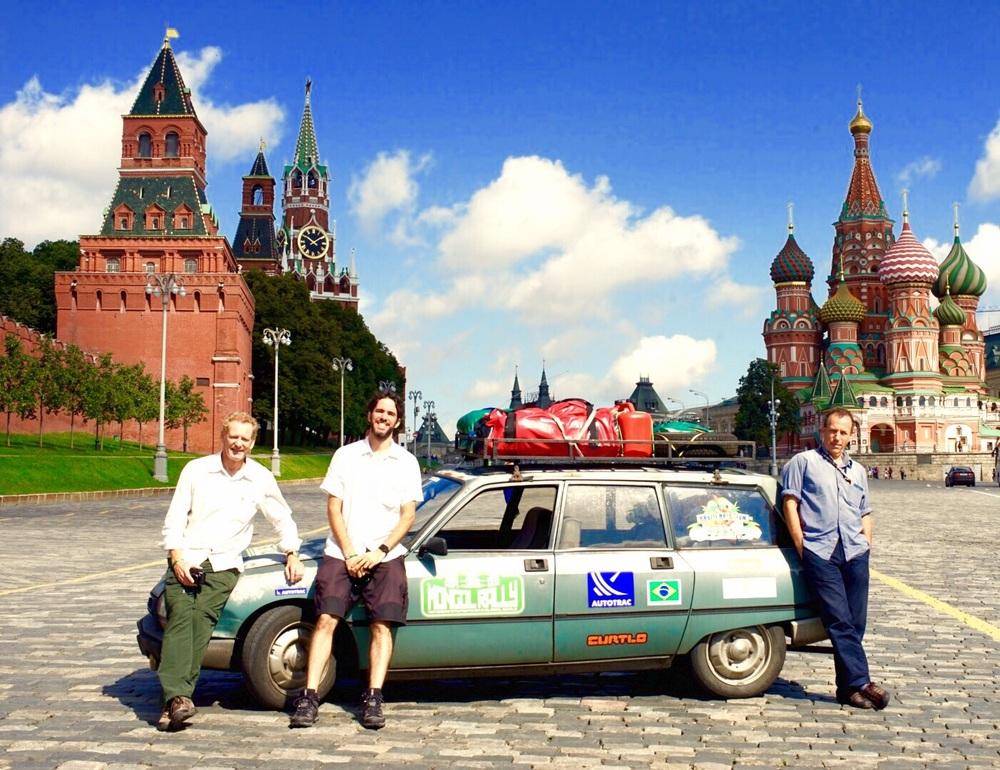Foto com o grupo na praça vermelha!