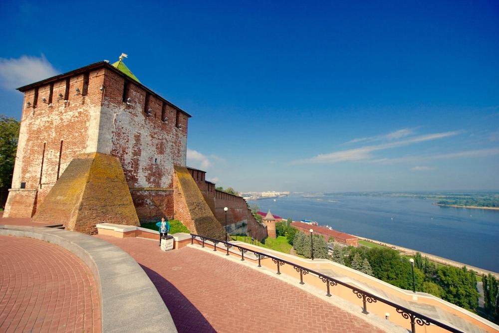 Rio Volga e a cidade histórica.