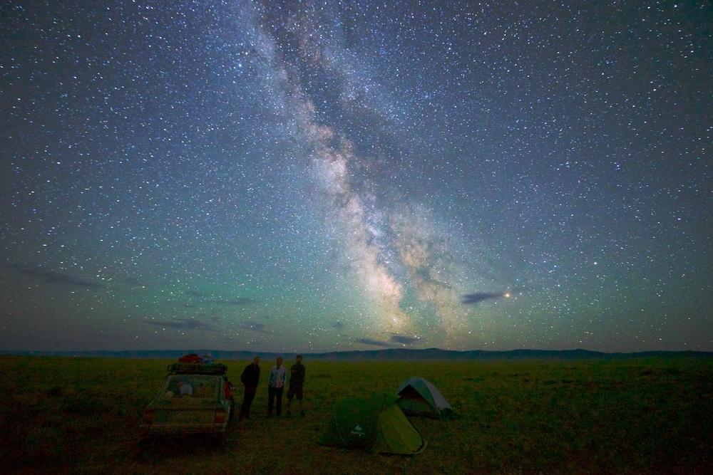 Em breve este seria o resultado! Estrelas iluminando nosso acampamento.