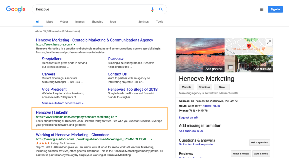 Hencove LinkedIn SEO Blog Example.png