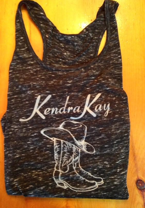 """""""Kendra Kay"""" Lady's Tank (black) - S M L"""